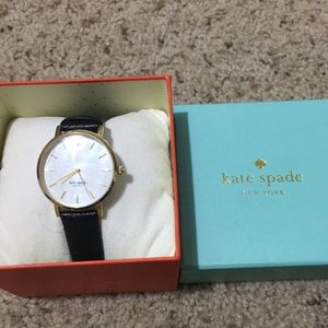 Kate spade black leather watch